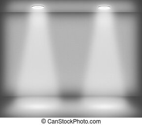 White Room with Two Spotlights