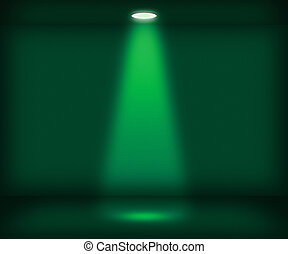 Single Spotlight Green Room Background