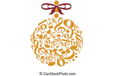 musical ornament - illustration of a Christmas ornament made...