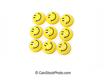 Group of yellow smileys - Image of a group of yellow smileys