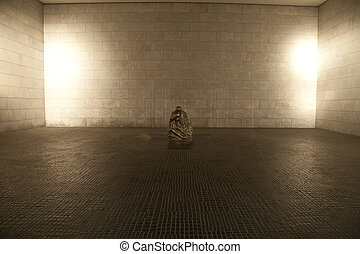 The interior of the Neue Wache in Berlin. This building is a...