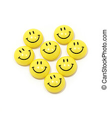 Heart made of yellow smileys - Image of heart made of yellow...