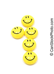 One made of yellow smileys - Image of one sign made of...