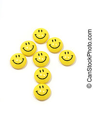 Symbol of the boom made of yellow smileys - Image of the...