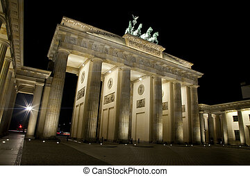 The Brandenburg Gate at Night - Berlin - A view of the...