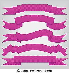 set of violet ribbons