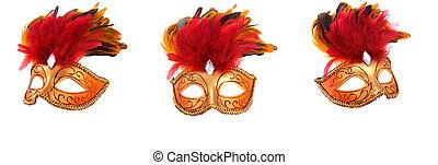 brillante, imaginación, máscaras