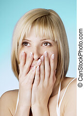 Girl with a well-groomed nails - Picture of a beautiful...