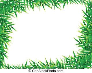 bamboo leaf frame