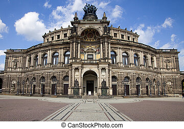 The Semper Opera House in Dresden - A view of the Semper...