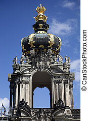 The Kronentor at the Zwinger Palace in Dresden - The...