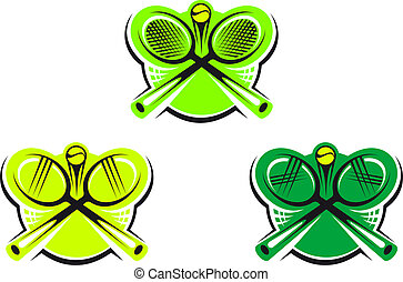 Tennis icons and symbols - Set of tennis icons and symbols...