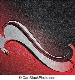 Red wave. Abstract background. Illustration.