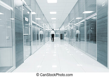 Corridor in modern business center