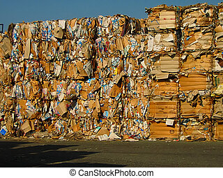 Paper Bales - A photograph of paper bales that will be...