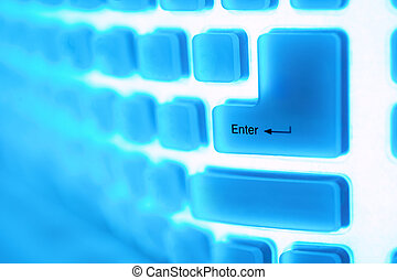 Computer key enter - Abstract image of a computer key enter