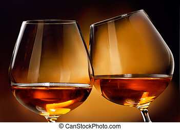 Cognac or Brandy - To clink two glasses of Cognac or Brandy...