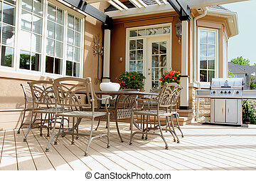 backyard deck and patio for relaxing and enjoying the...