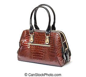 Brown Leather Ladies Handbag