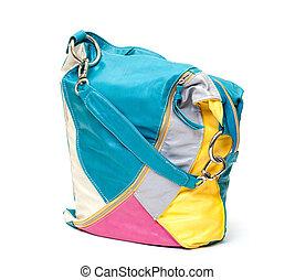 Vibrant Leather Ladies Handbag