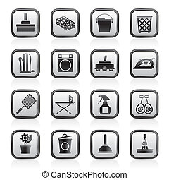 Household objects and tools icons