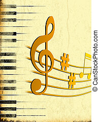 music - 2d illustration of music background