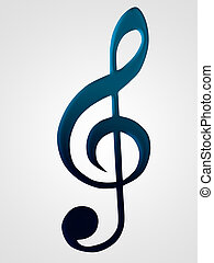music - 3d illustration of music notes