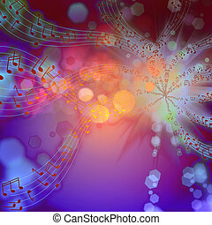 The musical abstract background