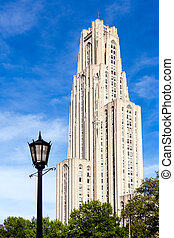 Cathedral of Learning in Pittsburgh - Tower of the Cathedral...