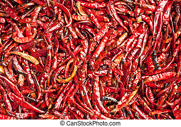 Dry red hot chilli