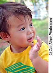 Portrait Thai children aged 2 years