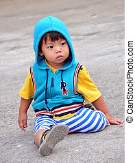 Portrait Thai children aged 2 years
