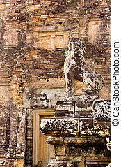 Stone Guardian at Pre Rup - Stone Guardian against stone...