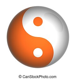 yin-yang  - Yin Yang symbol, 3d model