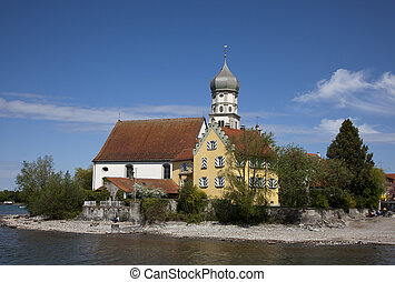 Church at Wasserburg at the Bodensee