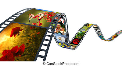 film - 3d illustration of film