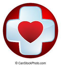 Heart medical cross. EPS 8