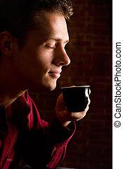 nice coffee drinking