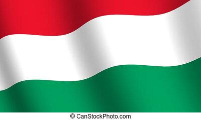 Waving flag Hungary