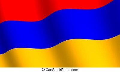 Waving flag Armenia