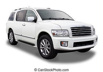SUV - Sports Utility Vehicle Isolated on White