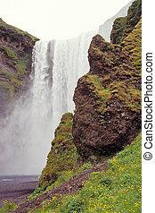 Skogafoss, Iceland - Skogafoss waterfall, Skogar, Iceland