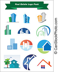 Real Estate Logo Pack - This is a set of vector logo design...