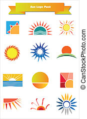 Sun Logo Pack - This is a set of vector logo & design...
