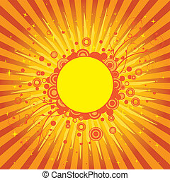 Yellow Sun Cover - Abstract retro design for party covers...