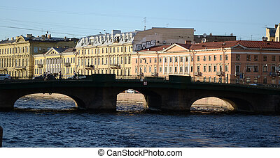 Fontanka canal in Saint-Petersburg - View of Fontanka canal...
