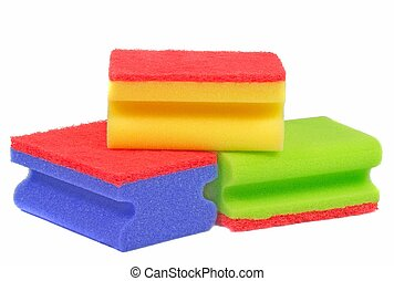 Dish wasing sponges - A selection of dish washing sponges on...