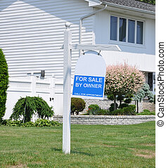 Real Estate For Sale By Owner Sign