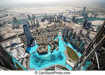 DUBAI - Aerial view of Dubai (United Arab Emirates)