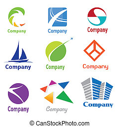 Logo Design Samples - This is a set of vector logo design...